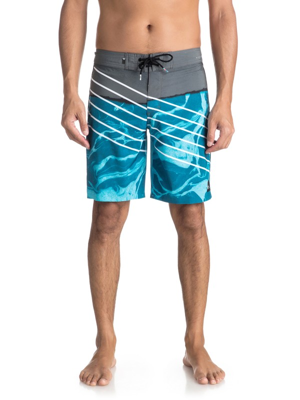 "0 Highline Lava Slash 19"" - Boardshort Blue EQYBS03848 Quiksilver"