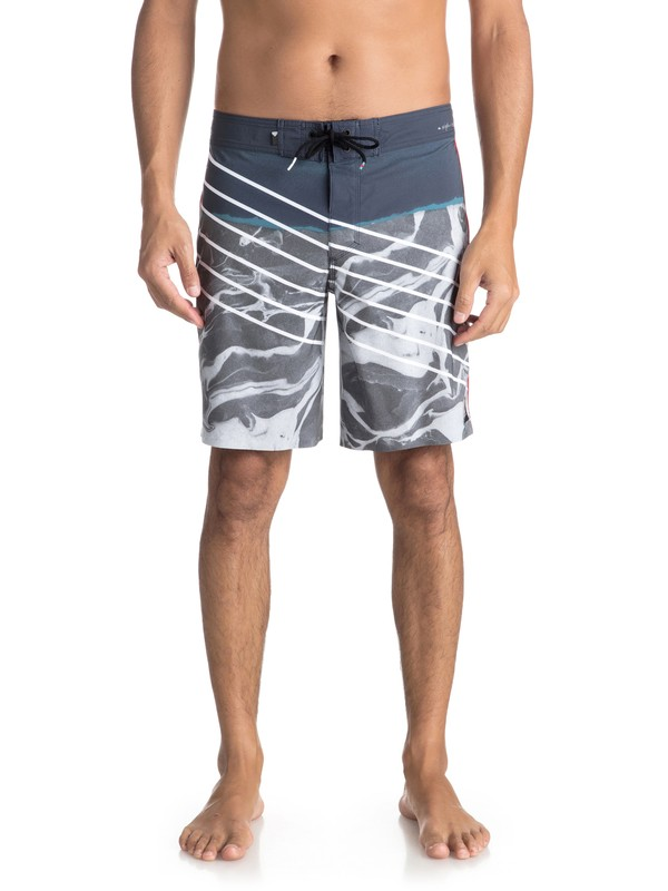 "0 Highline Lava Slash 19"" Boardshorts Blue EQYBS03848 Quiksilver"
