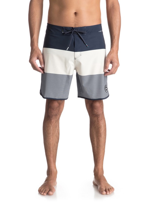 "0 Highline Tijuana Scallop 18"" - Board Shorts Blue EQYBS03852 Quiksilver"