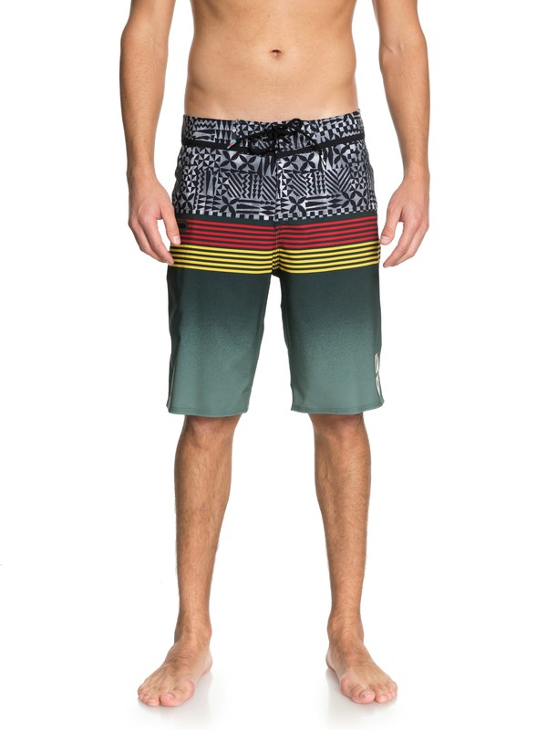 """0 Highline Division Hawaii 21"""" Boardshorts Green EQYBS03853 Quiksilver"""