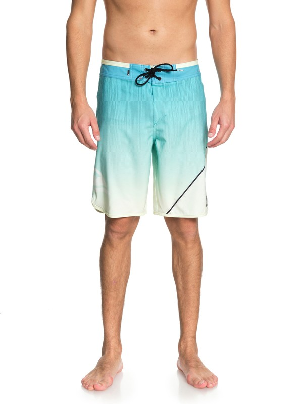 "0 Men's Highline New Wave 20"" Boardshorts Blue EQYBS03861 Quiksilver"