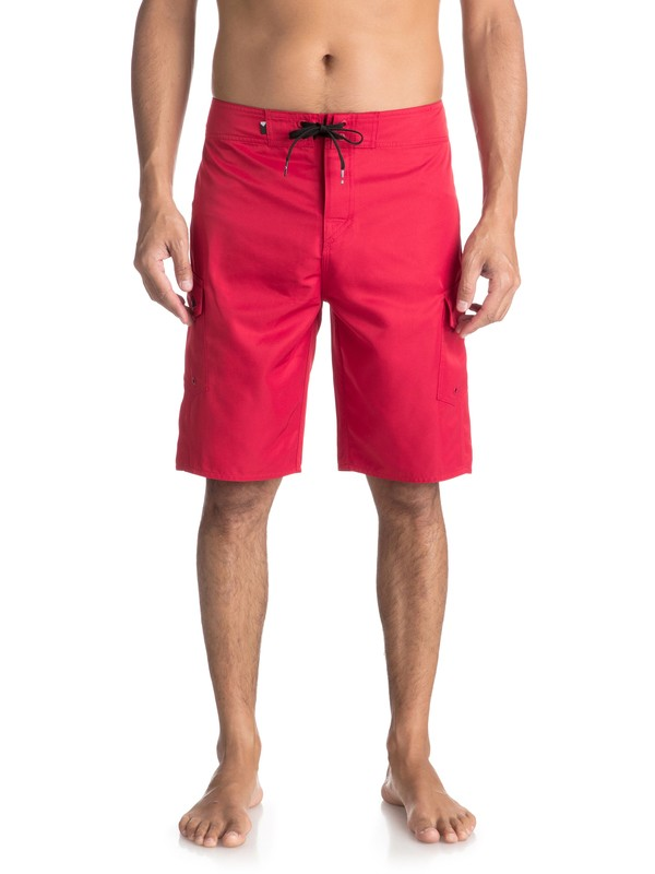 """0 Manic 21"""" Boardshorts Red EQYBS03875 Quiksilver"""