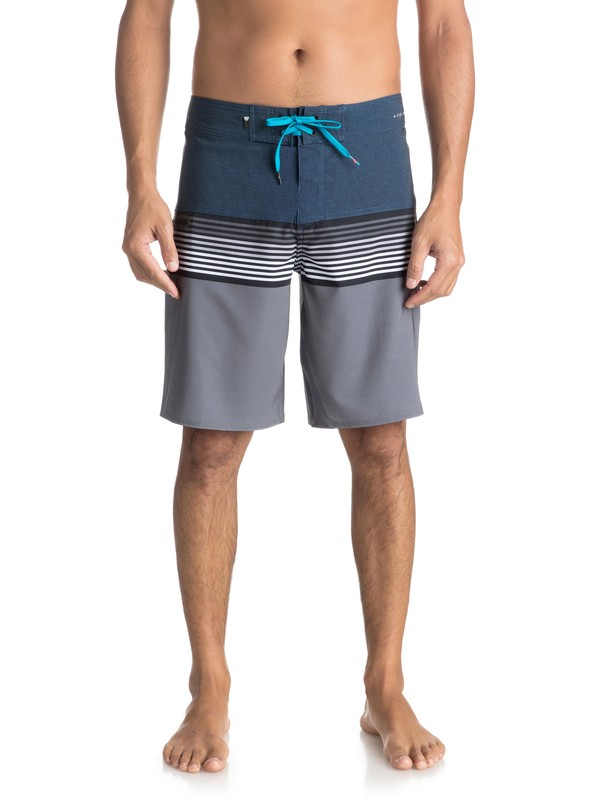 "0 Men's Highline Division 20"" Boardshorts Blue EQYBS03893 Quiksilver"