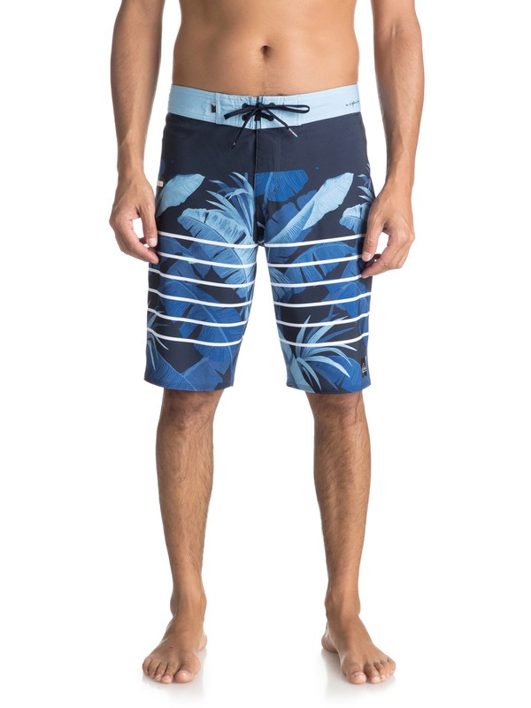 """0 Highline Island Time 21"""" Boardshorts Blue EQYBS03895 Quiksilver"""