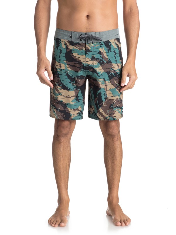 "0 Highline Variable 19"" Boardshorts Green EQYBS03906 Quiksilver"