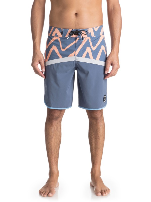"0 Highline Techtonics 20"" Boardshorts Grey EQYBS03917 Quiksilver"