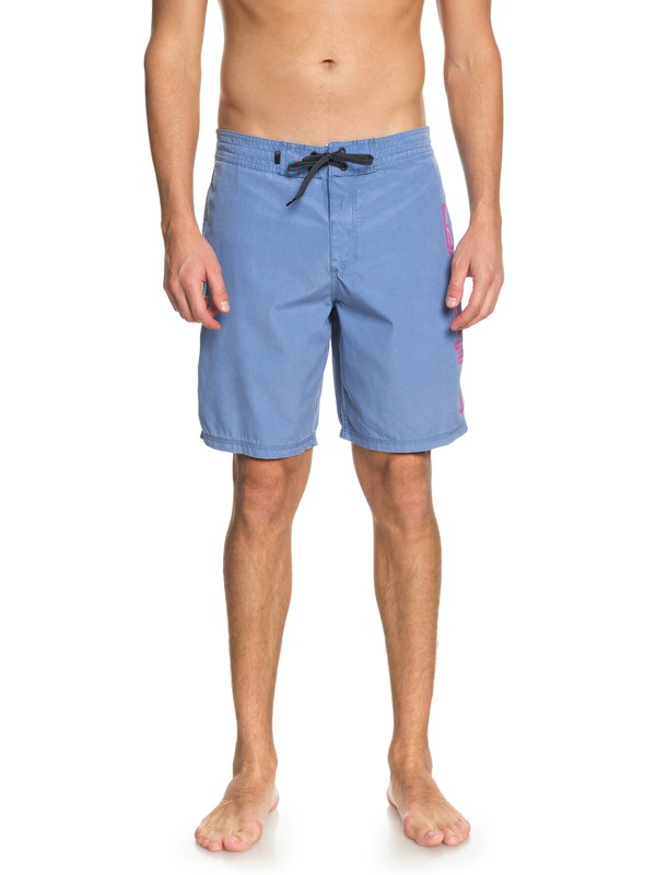 "0 Men's Omni 19"" Beach Shorts Blue EQYBS03926 Quiksilver"