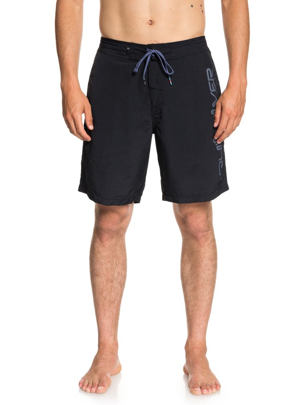 "0 Men's Omni 19"" Beach Shorts Black EQYBS03926 Quiksilver"