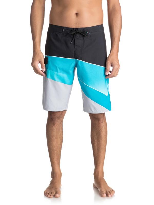"0 Slash Fade Logo 21"" Boardshorts Blue EQYBS03929 Quiksilver"