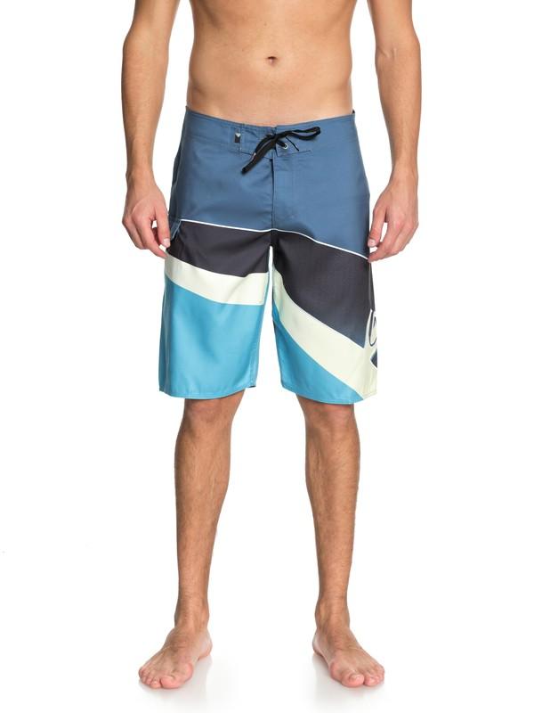 "0 Slash Fade Logo 21"" - Board Shorts Blue EQYBS03929 Quiksilver"