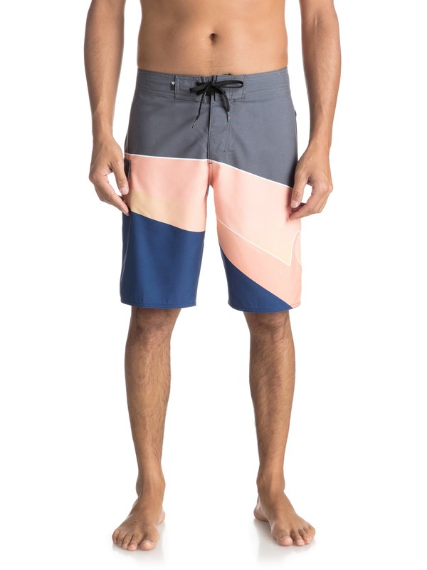 "0 Slash Fade Logo 21"" - Board Shorts for Men Black EQYBS03929 Quiksilver"