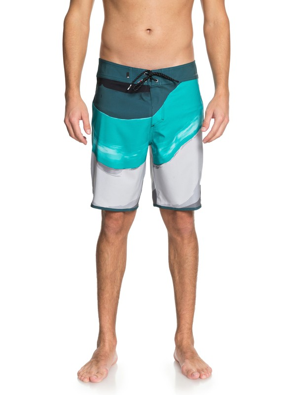 "0 Highline Resin Scallop 19"" - Boardshorts Blue EQYBS03955 Quiksilver"