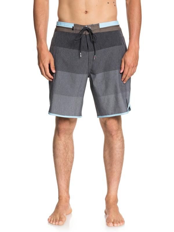 "0 Men's Vista 19"" Beach Shorts Grey EQYBS03964 Quiksilver"