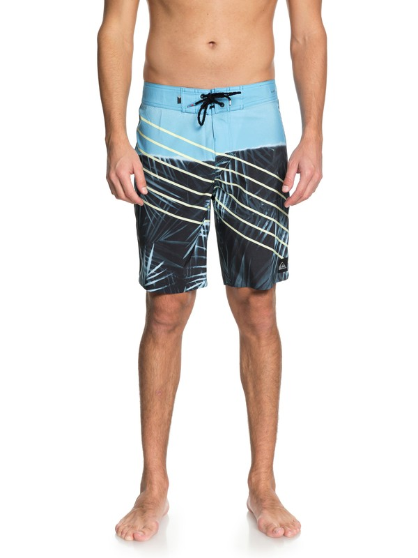 "0 Men  Palm Slash Highline de 19"" Boardshorts Azul EQYBS03975 Quiksilver"