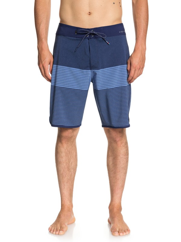 "0 Men's Highline Tijuana Scallop 20"" Boardshorts Blue EQYBS03998 Quiksilver"