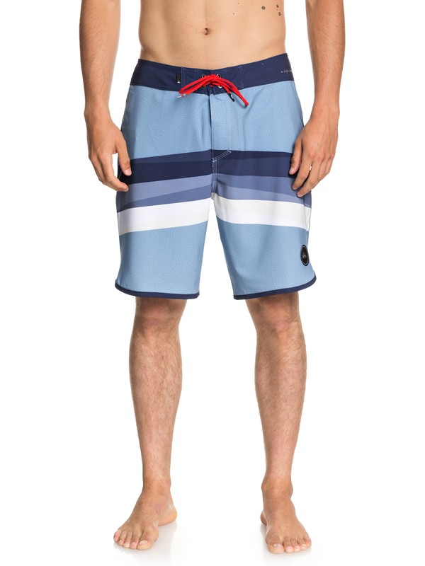 "0 Men's Highline Reverse 19"" Boardshorts Blue EQYBS04003 Quiksilver"