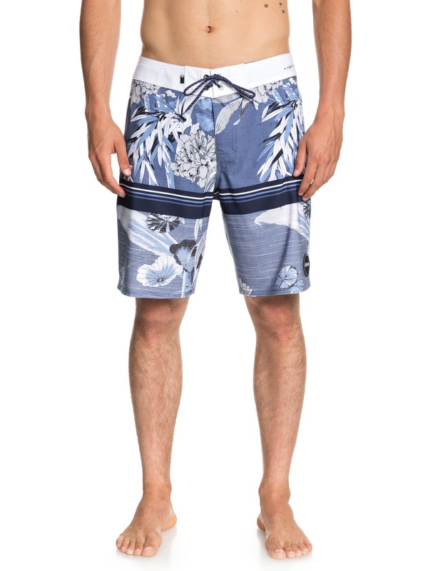 "0 Men's Highline Samurai 19"" Boardshorts Blue EQYBS04008 Quiksilver"