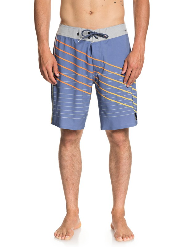 "0 Men's Highline Shibori Slash 19"" Boardshorts Blue EQYBS04013 Quiksilver"