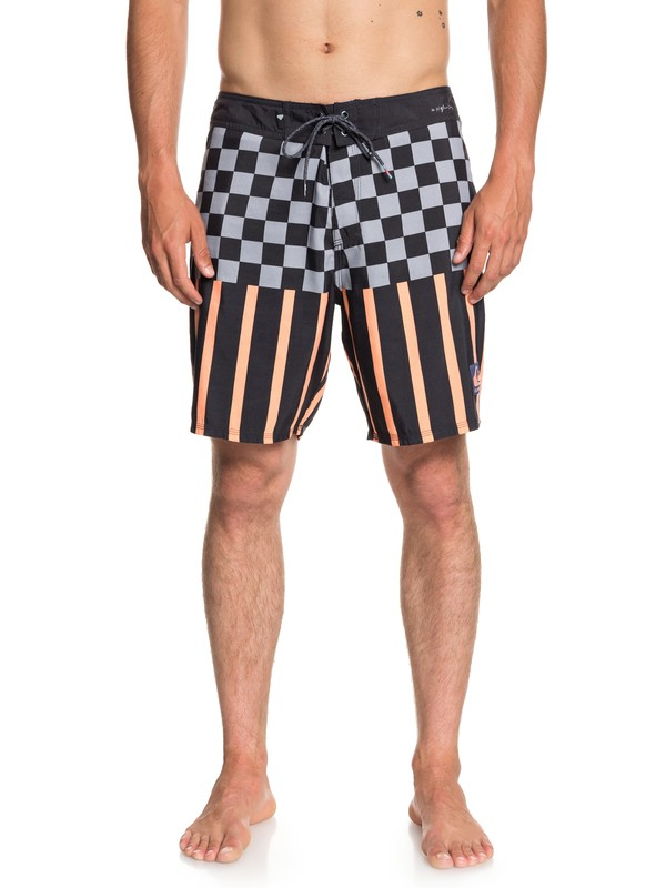 "0 Check Magnet 18"" - Board Shorts for Men Black EQYBS04015 Quiksilver"