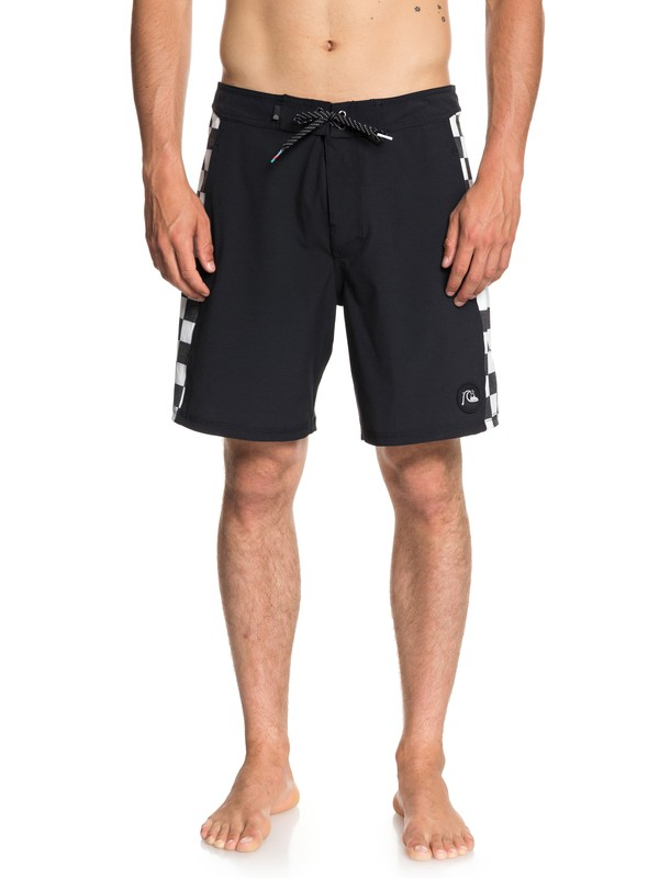 "0 Checker 18"" - Beach Shorts for Men Black EQYBS04018 Quiksilver"