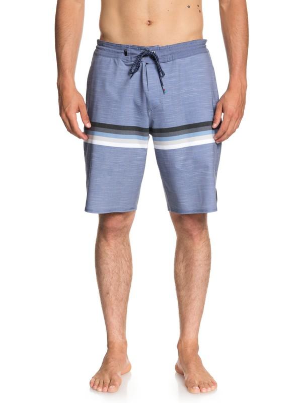 "0 Men's Seasons 20"" Beach Shorts Blue EQYBS04021 Quiksilver"