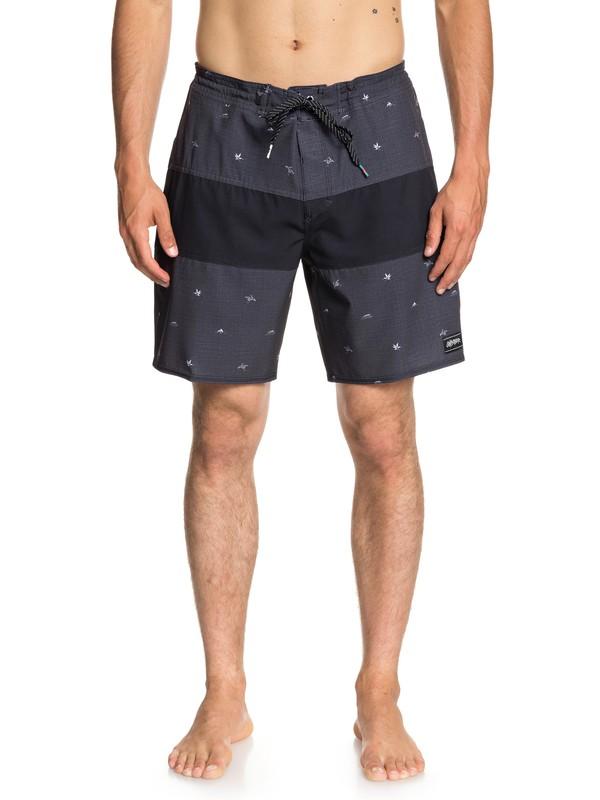 "0 Baja Variable 18"" Beach Shorts Black EQYBS04022 Quiksilver"