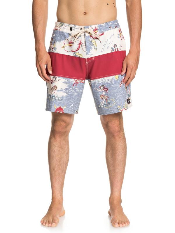 "0 Baja Variable 18"" Beach Shorts White EQYBS04022 Quiksilver"