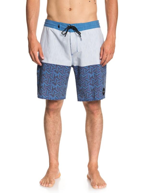 """0 Chiba 19"""" Beach Shorts Blue EQYBS04024 Quiksilver"""