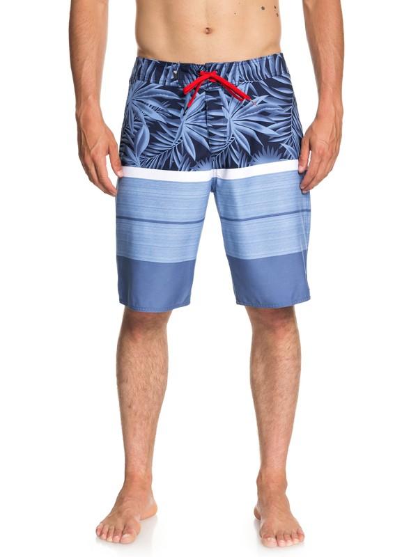"0 Men's Slab Island 21"" Boardshorts Blue EQYBS04028 Quiksilver"