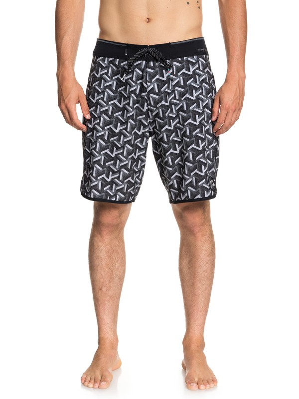 "0 Highline Zen Scallop 19"" - Board Shorts for Men Black EQYBS04029 Quiksilver"