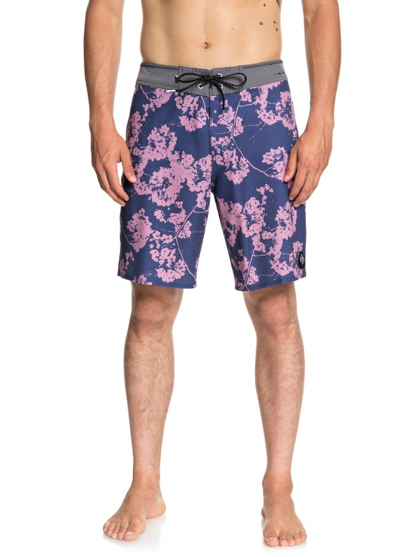 """0 Highline White Out 19"""" Boardshorts Blue EQYBS04047 Quiksilver"""