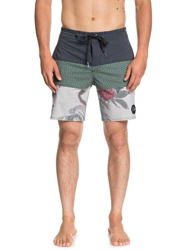 "0 Baja Variable 18"" Beachshorts Grey EQYBS04062 Quiksilver"