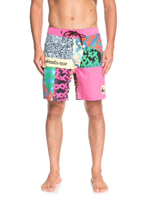 "0 Highline More Paint 18"" Boardshorts Pink EQYBS04074 Quiksilver"
