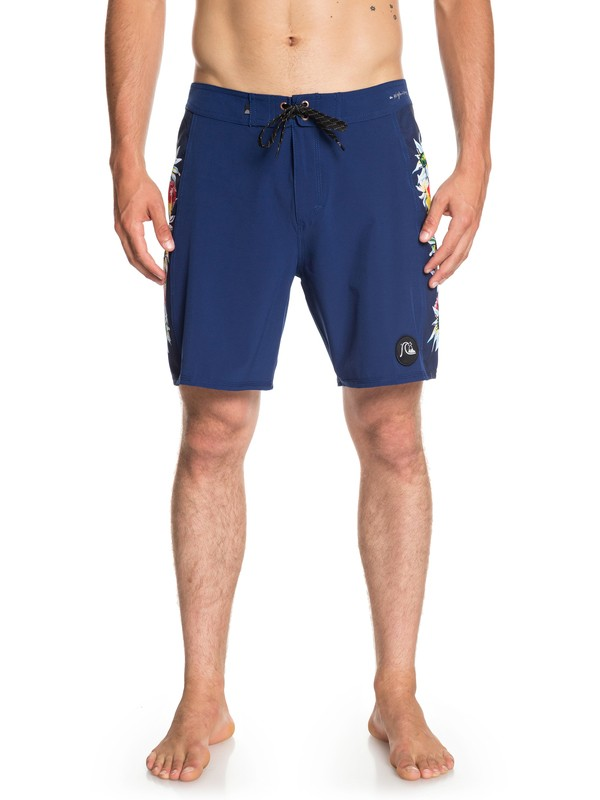 "0 Highline Arch 18"" Boardshorts Blue EQYBS04077 Quiksilver"