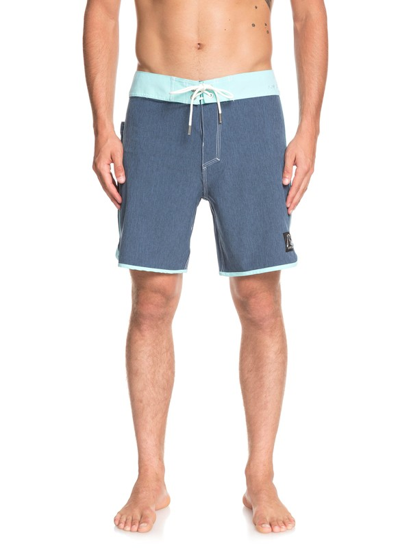 "0 Highline Scallop 18"" Boardshorts Blue EQYBS04081 Quiksilver"