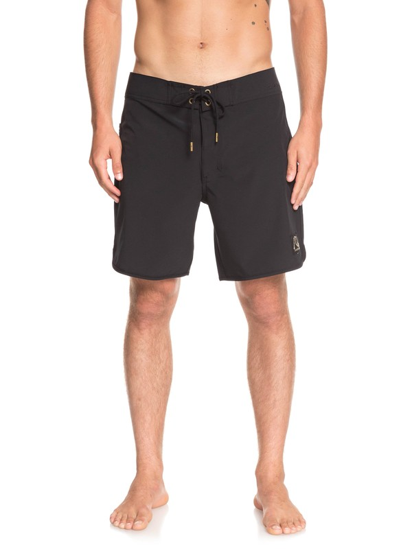 "0 Highline Scallop 18"" Boardshorts Black EQYBS04081 Quiksilver"