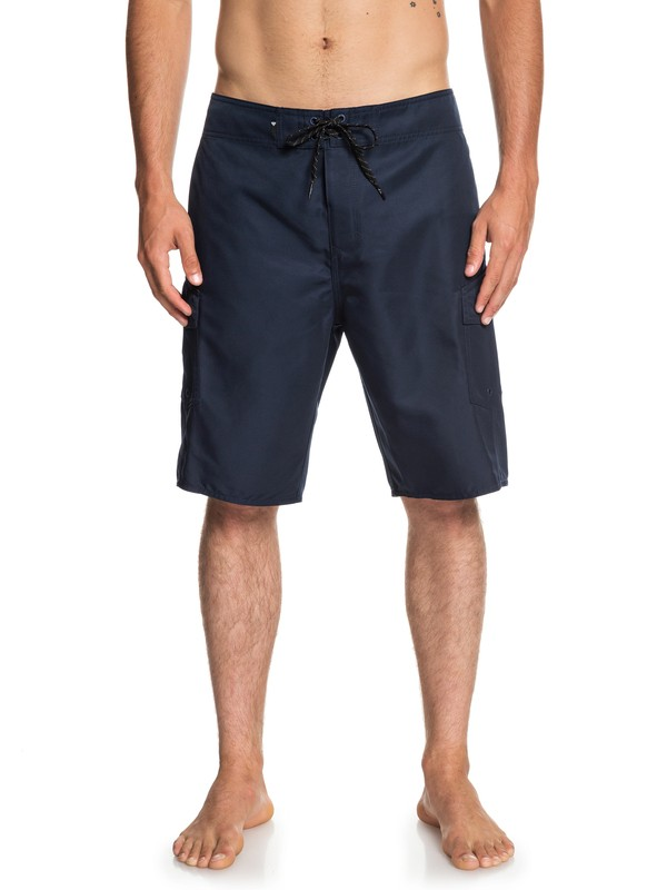 """0 Manic Solid 21"""" Boardshorts Blue EQYBS04089 Quiksilver"""