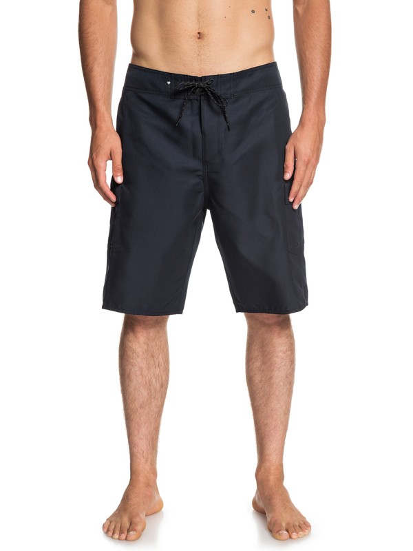 "0 Manic Solid 21"" Boardshorts Black EQYBS04089 Quiksilver"