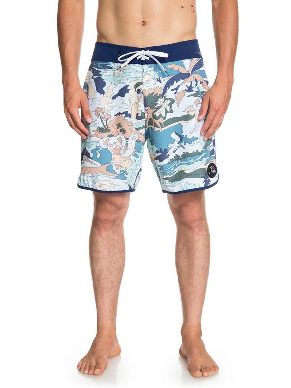 "0 Highline Feelin Fine 18"" - Board Shorts for Men Blue EQYBS04116 Quiksilver"