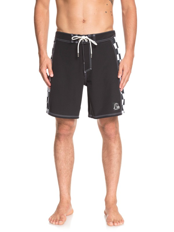 "0 Highline Checker Arch 18"" Boardshorts Black EQYBS04137 Quiksilver"