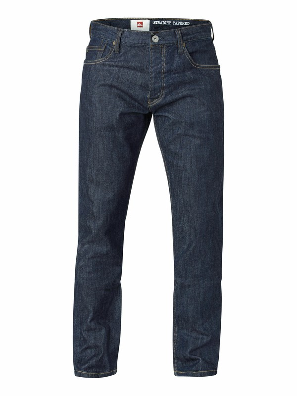 "0 Kracker Brushed Rinse Straight Tapered Fit Jeans, 32"" Inseam  EQYDP03005 Quiksilver"