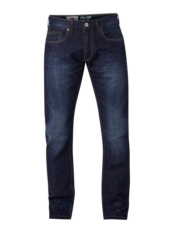 """0 Revolver Dark Vintage Straight Fit Jeans, 32"""" Inseam  EQYDP03008 Quiksilver"""