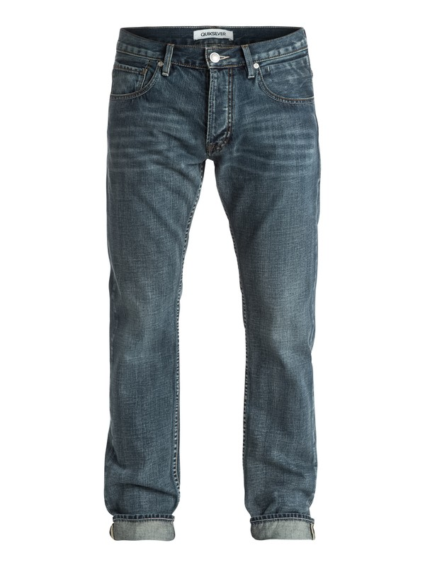 """0 Revolver Vintage Cracked 32"""" Straight-Fit Jeans  EQYDP03096 Quiksilver"""