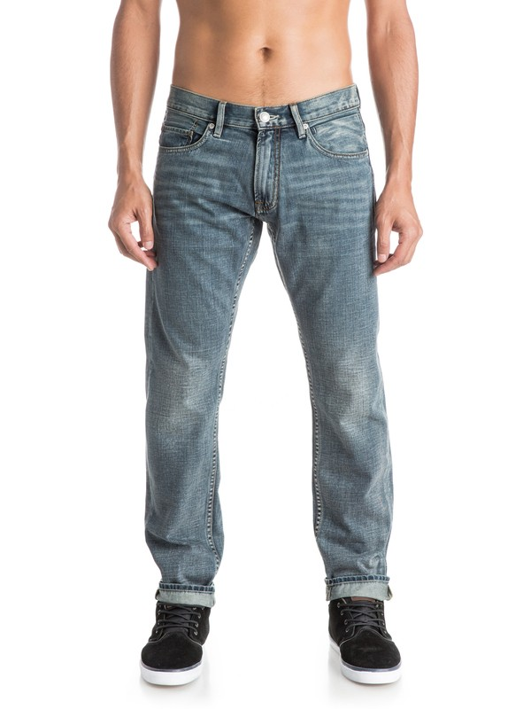 """0 Revolver Vintage Cracked 32"""" - Straight Fit Jeans  EQYDP03165 Quiksilver"""