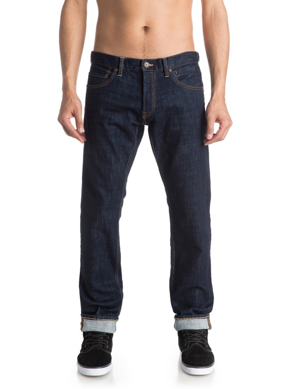 """0 Revolver Rinse 30"""" Straight Fit Jeans  EQYDP03290 Quiksilver"""