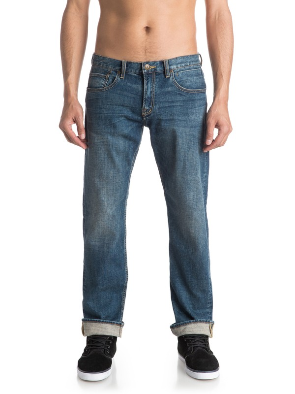 "0 Sequel Medium Blue 30"" Regular Fit Jeans  EQYDP03291 Quiksilver"