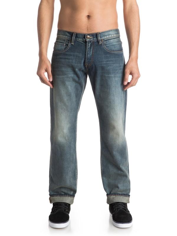 "0 Sequel Vintage Cracked 30"" Regular Fit Jeans  EQYDP03293 Quiksilver"