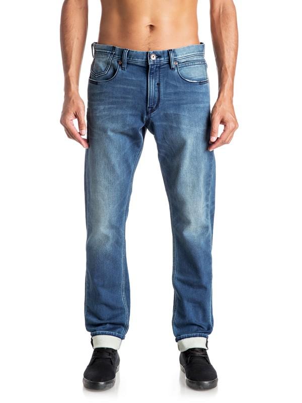 0 Biscanson - Jean coupe droite slim Bleu EQYDP03304 Quiksilver
