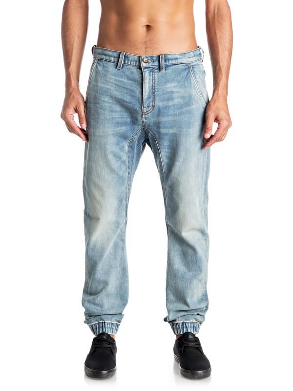 0 Fonic Fix New Blur - Pantalon de survêtement denim coupe droite  EQYDP03305 Quiksilver