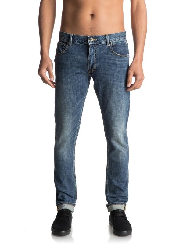 0 Zeppelin Medium Blue - Jean skinny  EQYDP03320 Quiksilver